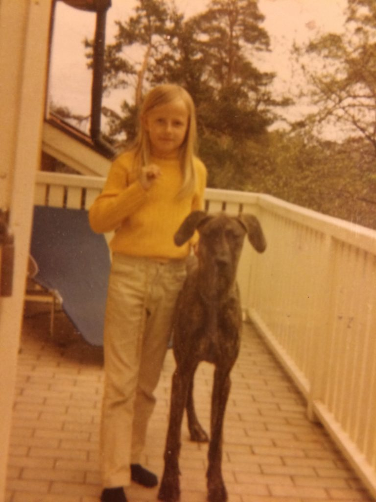 Peggy the Great Dane and I
